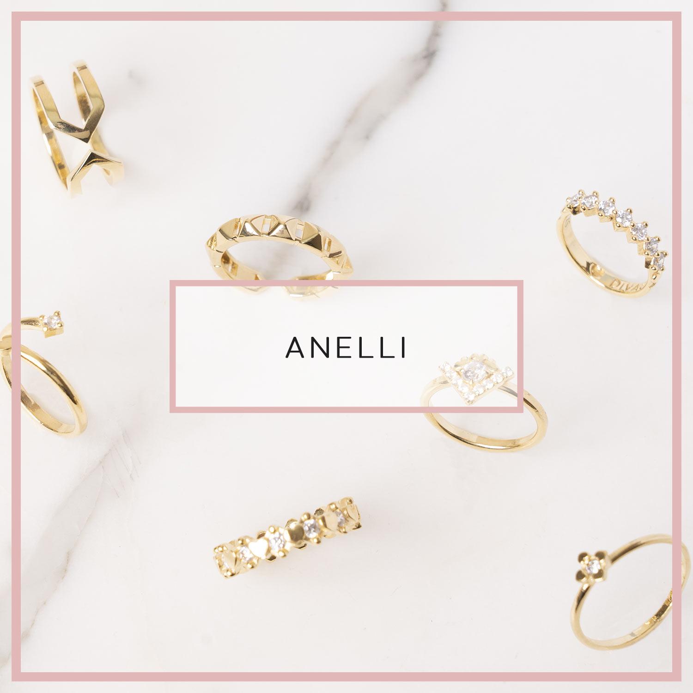 anelli brillanti colorati, fedine in argento 925 di fidanzamento. gioielli d'argento placcato oro.