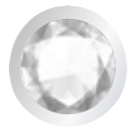 Croce Crystal finitura rodio