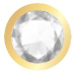Croce Crystal finitura oro